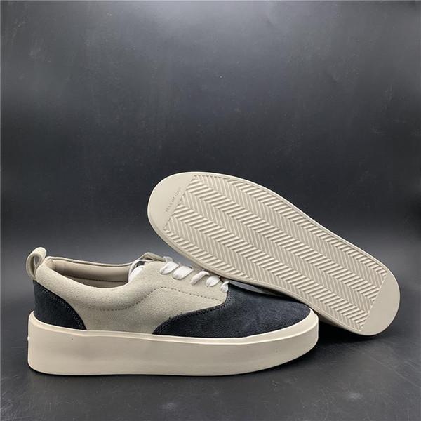 3A Mise à jour crainte de Dieu x Chaussures Hommes Casual La saison 5 Chaussures Suede Skateboard Italie Luxe Slip-On BROUILLARD Chaussures Fashion Designer