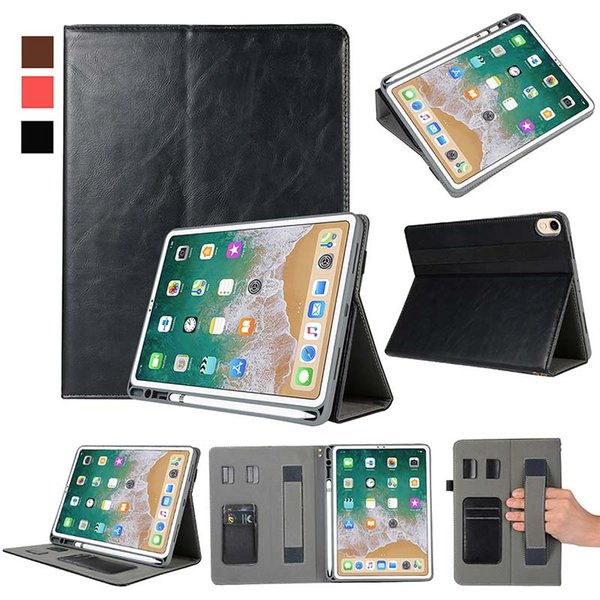 Classic Half Genuine Leather Tablet Case For ipad pro 11 inch ipad AIR With Built-in Pen Slot PU Leather Tablet Cover Case