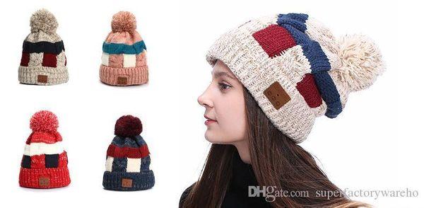 Pop Bluetooth Headset Hat 4.2 Wireless Call Headphones Music Hat Knit Cap Plus Velvet Warm Bluetooth Hat