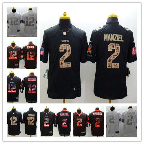best service d5919 0e201 2018 2019 New Mens 12 Josh Gordon Jersey Cleveland Browns Football Jersey  100% Stitched Embroidery Johnny Manziel Color Rush Football Shirts From ...