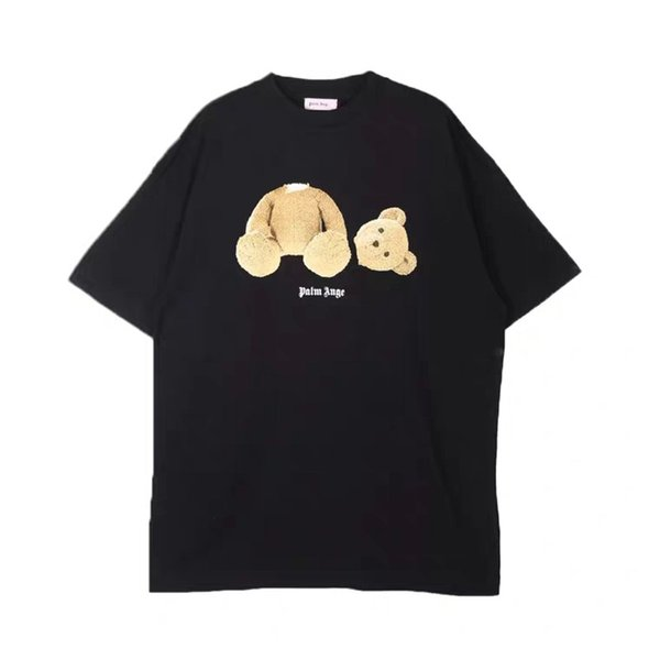 Palm Angels Designer Camiseta Hip Hop Anjos Palm Homens Mulheres Camiseta Mangas Curtas Moda Decapitado Urso Tees Tamanho S-XL