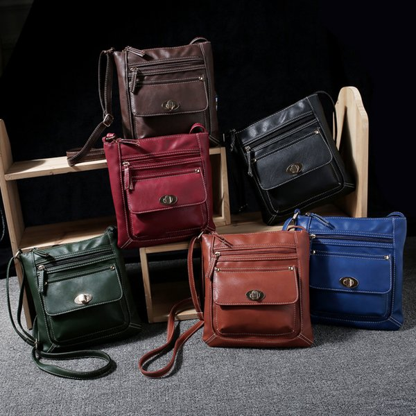 New PU Leather Satchel Womens Solid Cross Body Shoulder Messenger tote Bags K5378