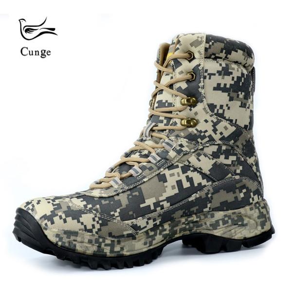 Открытый Камуфляж Кроссовки Ботинки Army Desert Military Тактические Ботинки Обувь Водонепроницаемый Противоскольжения Combat Высокий / Низкий # 97350