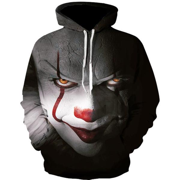 Clown Hoodies Men Fashion Streetwear Loose Fit Clothes Casual Men 3D Sweatshirt Harajuku Hoody Hip Hop Sudaderas Para Hombre