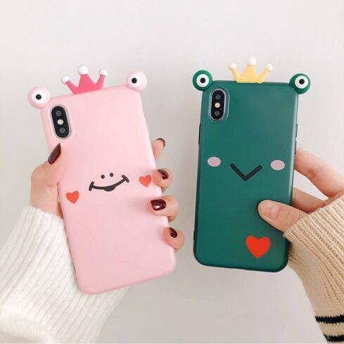 Милая лягушка яблоко XS Max / XR для мобильного телефона оболочки iPhone8plus / 7p / 6s личности небьющиеся мягкая оболочка оптом