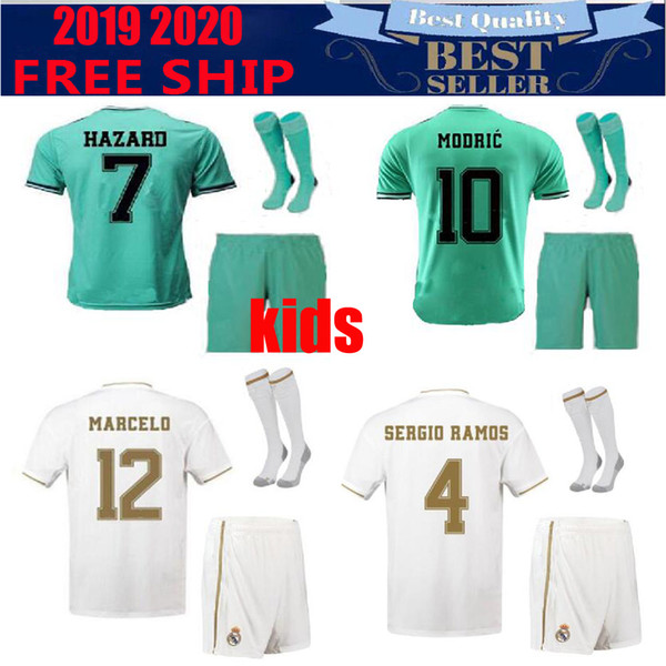 2018 2019 Soccer Real Madrid La Liga 4 SERGIO RAMOS Jersey kids kits 10 MODRIC 11 BALE 20 ASENSIO 22 ISCO Football Shirt Kits