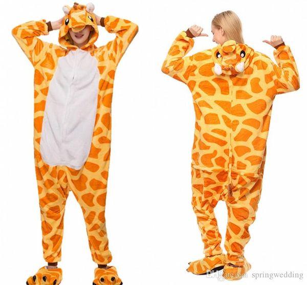 Un pezzo donne Pigiama casuale pigiama degli animali Imposta con cappuccio morbida flanella Homewear Sleepwear femminile Cute Cartoon pigiami MC0646