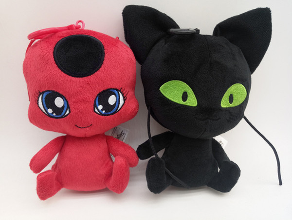 fa3888a3952 anime cat plush Promo Codes - Miraculous Ladybug Doll The New 6 Inch Carton  Plush Doll