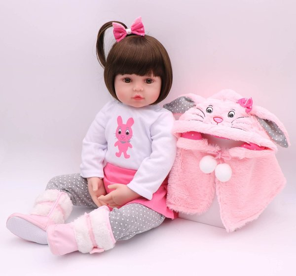 Bebe Reborn 48cm soft real touch silicone boneca silicone reborn toddler baby dolls kids birthday Christmas gift popular