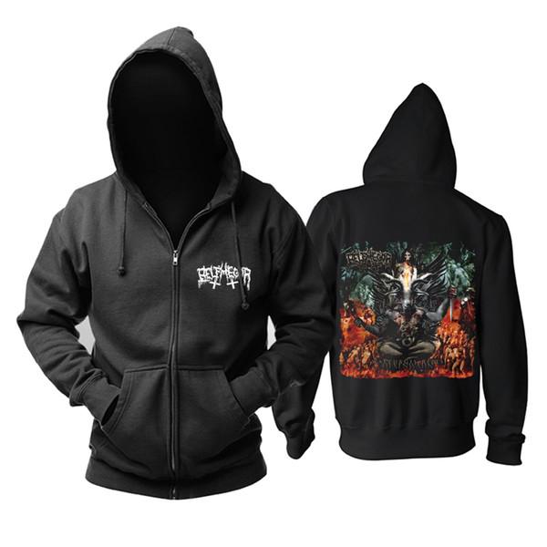 14 kinds Demon Zipper Sweatshirt belphegor Rock hoodies shell jacket rocker brand punk heavy metal sudadera Outerwear fleece