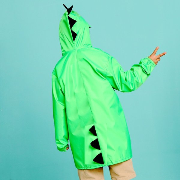 Verde piccolo dinosauro Raincoat