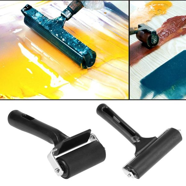 Cheap By Number Pens & Brushes Rubber Roller Brush Handle DIY Craft Tools Brayer Roller Paint House Paint Rollers Runner Pro