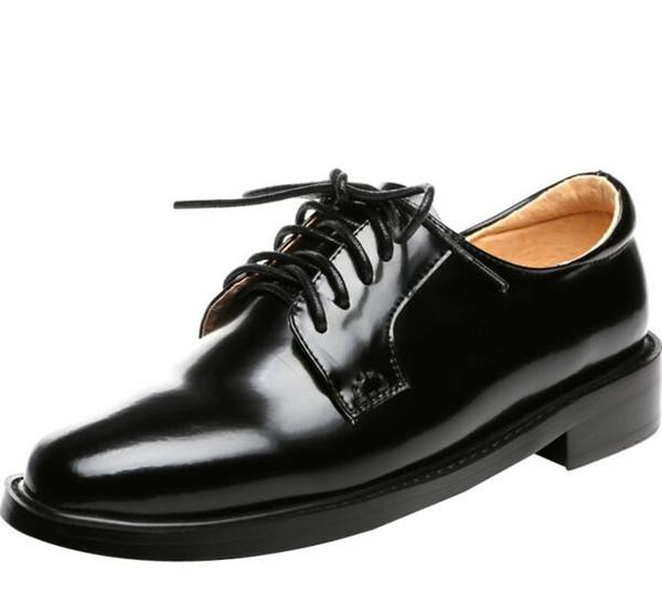 Plates Vent De16 Génial 1 Du Nouveau Chaussures Travail En Britannique Noir Acheter Femme Soulier Cuir Occasionnel Zhangfy88 2019 kZOPTwXiul