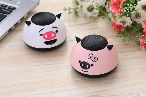 Cartoon Mini- Bluetooth Loudspeaker Box Toys Bluetooth Loudspeaker Box Plug-in Card Small Loudspeaker Box Desktop Bass Cannon