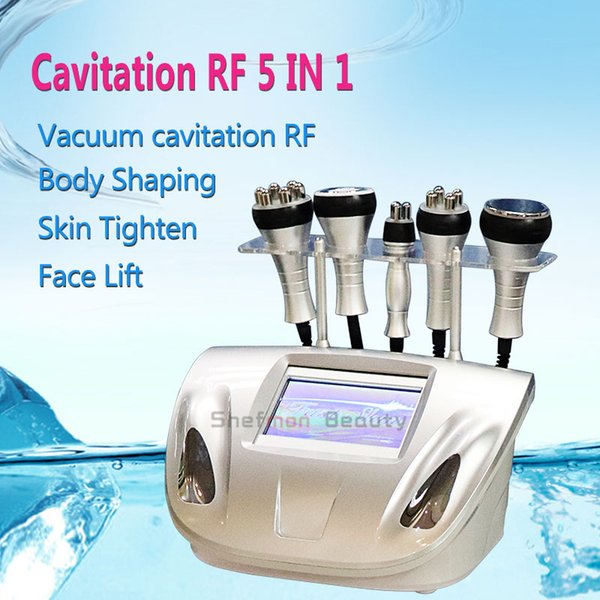 5 in 1 Cavitation Vacuum RF Radio Frequency Beauty Equipment For Body Shaper Face Lift Slimming Salon Clinic Home Use Beauty Machine