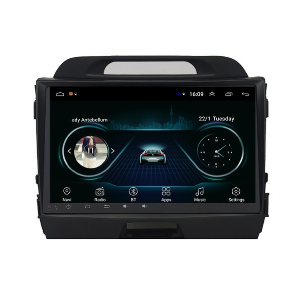 Android car free map radio HD1080 clear camera excellent bluetooth fast delivery for KIA sportage 2011-2016 9inch