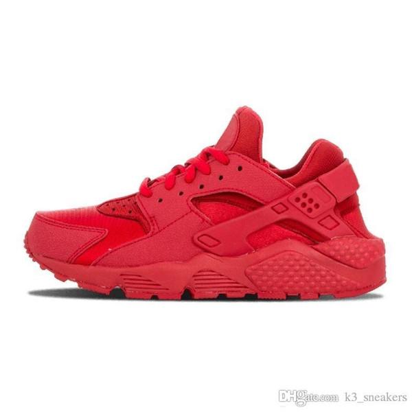 Nike Air Huarache Run 1 vendita all'ingrosso Huarache 1 4 mens Scarpe Sneakers Ultra Run triple Bianco Nero rosso grigio Huaraches Scarpe Uomo Donna Scarpe Casual Sneakers 5.5-11