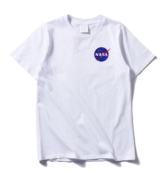 2019 New NASA Space Tshirt Retro Men T-shirt Brand Shirts Fashion Tide Nasa Print T Shirt Men Short Sleeve T-shirt Summer Wear