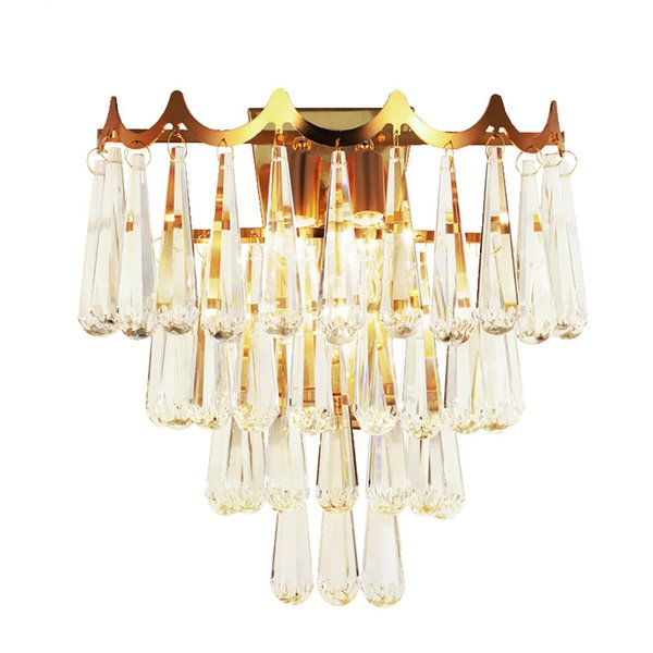 Luxury Wall Sconce Lamps Luxury Living Room Bedroom LED Crystal Wall Lights Creative Design Home Decoration Lighting
