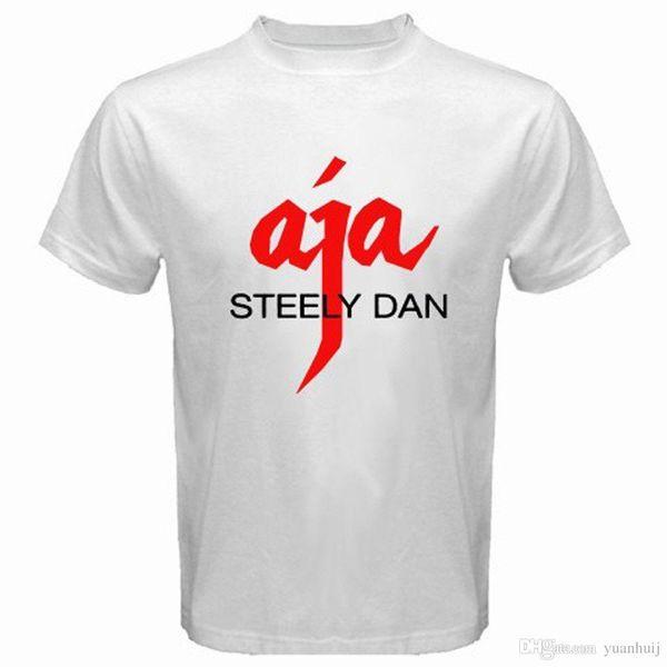 Nuevo Steely Dan * AJA Logo Rock Music Legend Camiseta blanca para hombre, talla S a 3XL