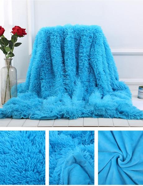 soft throw blanket long shaggy fuzzy bk02 fur faux fur warm elegant cozy with fluffy sherpa plaids bedspread sofa blanket
