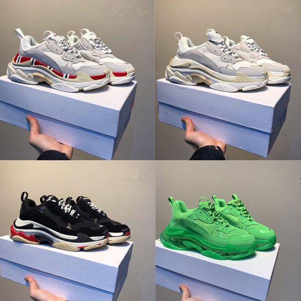 2019 INS Paris 17FW Triple S Sneaker Designer Shoes Old Dad Combination Soles Hombres Mujeres Moda Casual Zapatos de calidad superior Tamaño 36-45