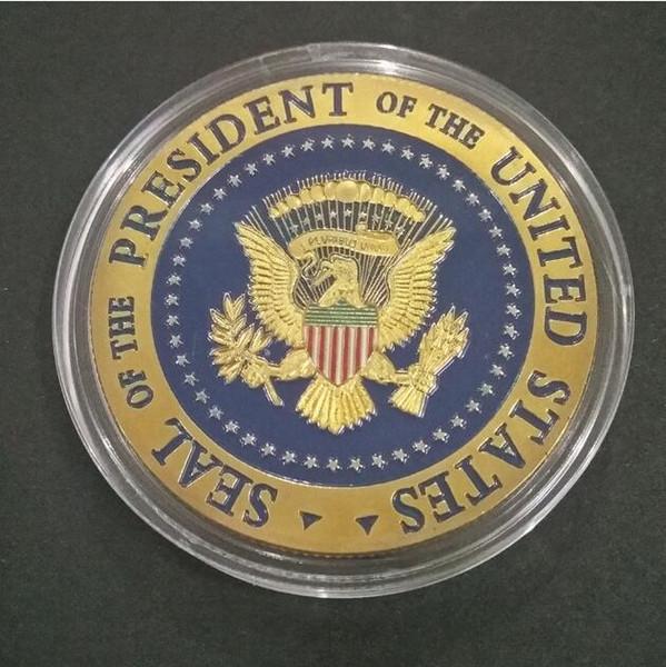 2020 Donald Trump Commemorativo Aquila Coin American 45th President Badge Presidente degli Stati Uniti Monete d'oro Collezione di artigianato in metallo Token