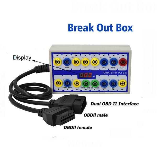 2019 Новые obd2 OBDII Протокол Detector автомобиля OBD Break Out Box Breakout инструмент с самым лучшим качеством