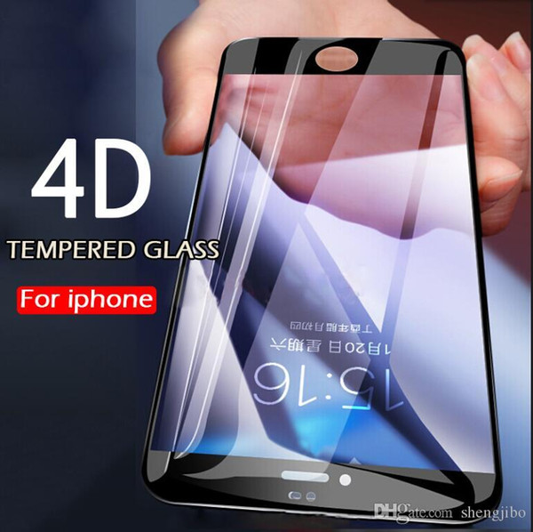 4D Curved Tempered Glass Full Cover For iPhone 7 8 Plus 6 6s Plus Screen Protector For iPhone 6 8 Plus 7 Protective Glass