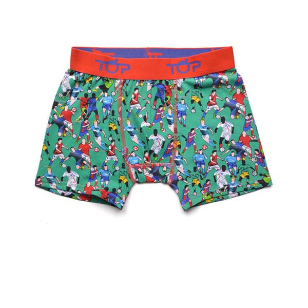 Spain brand boys football pattern trunk boxers kids shorts child panties pure cotton pants children underwear teenage briefs 5Pieces/Lot