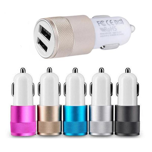 Chargeur De Voiture Double Sortie USB 2.1A 1A Charge Rapide Adaptateur De Voyage De Téléphone Mobile Allume-cigare DC 12-24V Chargeur de Voiture