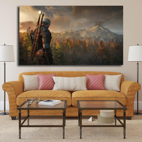 Le Sorcier 3 Chasse Sauvage HD Affiche Peinture Sur Toile Chambre Mur Art Décoration Photos Décoration