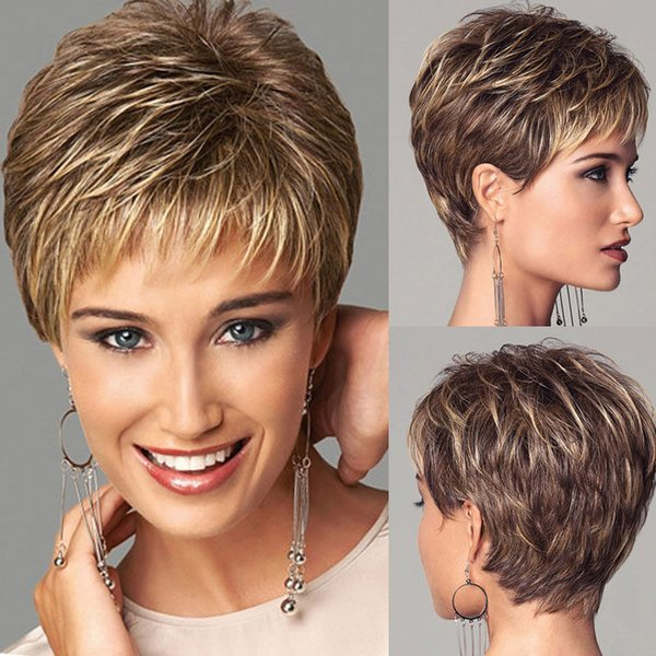 Großhandel Hot Style Frauen Persönlichkeit Kurze Haare Flauschige T Farbe Haar Chemische Faser Kopf Set Kurze Mikro Lockige Perücke Von Ruyujingmao
