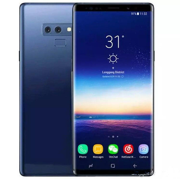 Free DHL goophone S10 plus Note 9 6.4 inch Cell Phone quad core 1GB ram 16GB rom Show 128GB fake 4g lte android Smartphone Sealed box