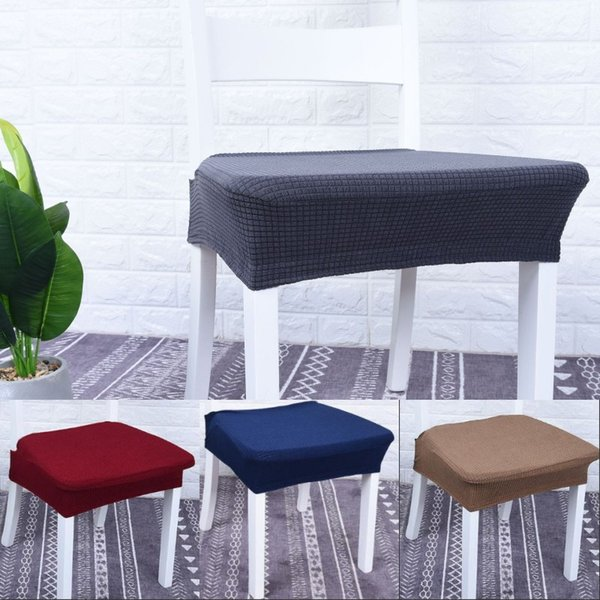 Marvelous Plaid Anti Water Chair Covers Fabric Art Home Furnishings Stool Sleeves Black Grey Pure Color Seat Cases 7 9Sj L1 Rent Chair Covers For Weddings Machost Co Dining Chair Design Ideas Machostcouk