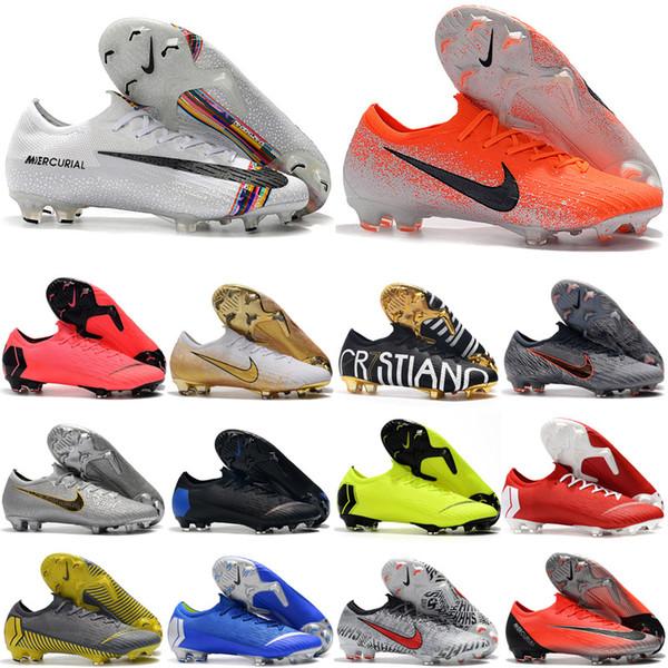 2019 en kaliteli erkek futbol ayakkabıları Mercurial Superfly VI 360 Elite FG CR7 futbol cleats Neymar futbol ayakkabıları scarpe da calcio 03