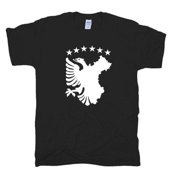 T-Shirt Marke 2019 männliche Kurzarm autochthone Flagge Flagge Albanien Kosovo Kosova Shqiptar Albanien T-Shirt S Xxl T-Shirts