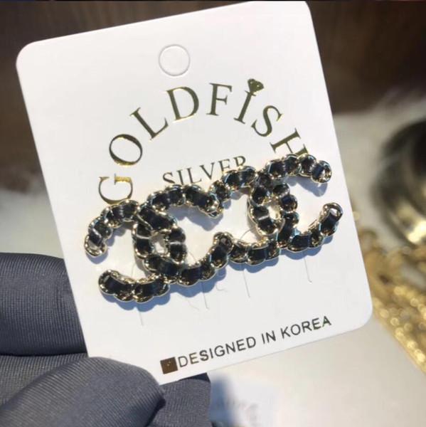 Pendientes de lujo Deasign Carta del pendiente Pendientes de cristal nudo del pendiente cuelga de largo para la joyería de la boda la mujer