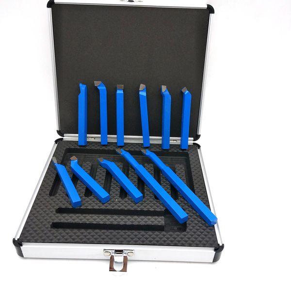 11pcs Metal Carbide Welding CNC Lathe Tools Carbide Brazed Tipped Cutter Tool Bit Cutting Kit Welding Turning Tool Holder