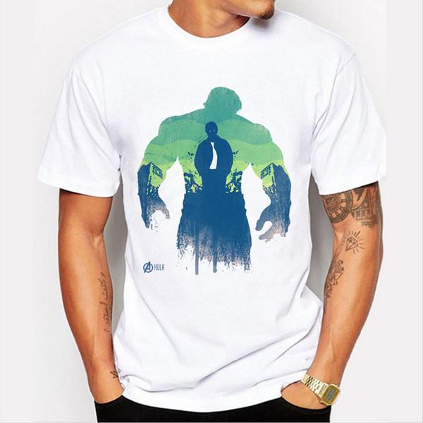 Мстители Капитан Америка / Халк / Железный Человек / Черная Вдова / Соколиный Глаз / Футболка Thor Men Футболка брендовой футболки для мальчика 89-13 #