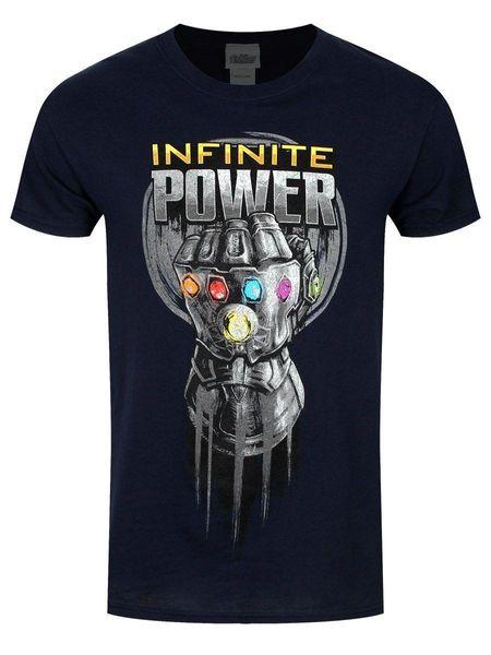 The Avengers Infinity War Infinite Power Glove Men's Black T-shirt