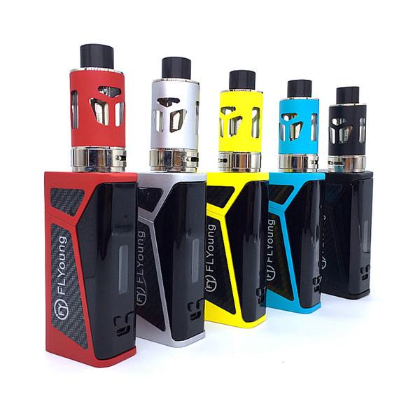 Hohe Qualität Elektronische Zigaretten 128 Watt Vape Box Mod Kit Vaper Shisha Verdampfer Vaping Mech E Raucher Shisha Pen Rauchen LCD Show