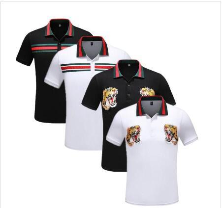 горячего надувательство Europe Париж вышивка мода печать T-Shirt GIГуччи Мужчины / женщины моды короткий рукав хлопок повседневные мужские футболки