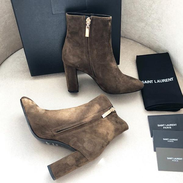 Le nouvel appartement de luxe Ms automne et bottes d'hiver en cuir épais bottes highheeled hiver sauvages bottes Martin verges qc 35-40 freeshipping