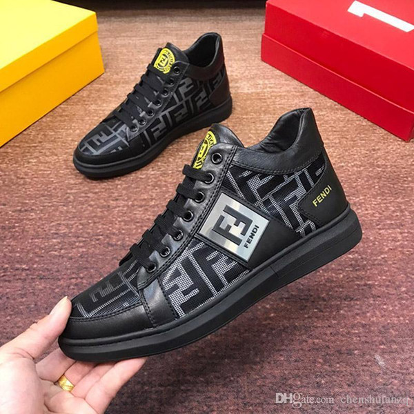 Top qualité brodpatron sauvage Chaussures Hommes Casual, personnalité haut Top Mens Sport Casual Chaussures plates Respirant Chaussures Hommes Casual 0001