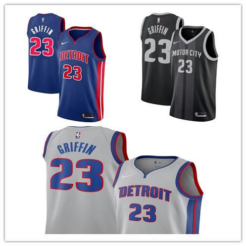 best loved f5b69 814d5 Cheap Custom 2019 #23 Blake Griffin Jersey Detroit Mens Stitched Grey Blue  White Basketball Jerseys Mens Tuxedo Tails Mens Tuxedo With Tails From ...