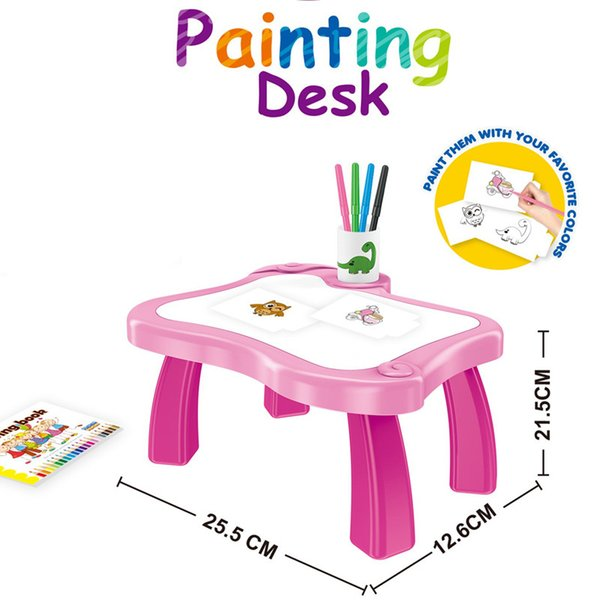 best selling Children's writing painting graffiti drawing board table