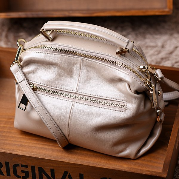 W0078 Ladies Oil wax Leather hand bag for Women Famous Brand Trunk Handbags Luxury Designer Femme Casual Tote large Travel Shoulder Bag