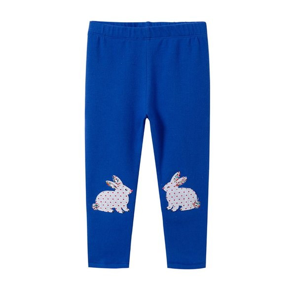 2019 Spring Autumn Brand New baby girls Leggings Kids cotton long pant 6pcs/lot cartoon rabbit blue colour #1087