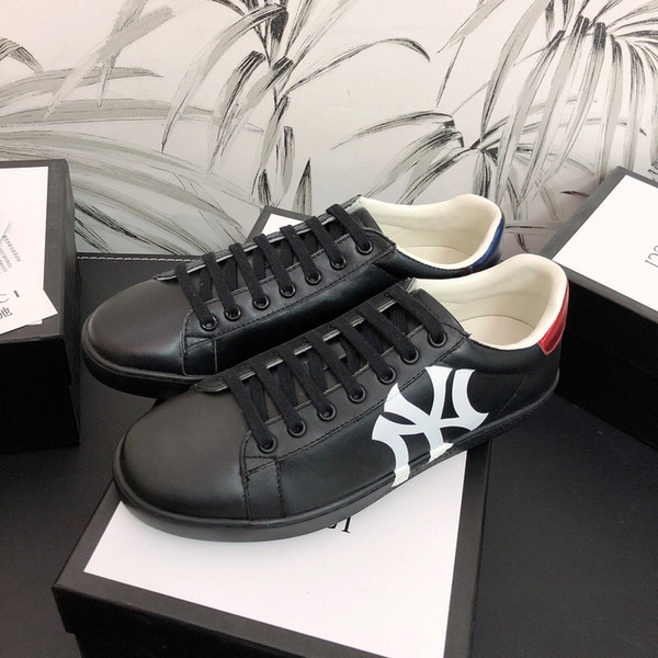 Fashion Men/'s full Strawberry Logo Sneakers Lace Up Leather Casual Shoes 38-45